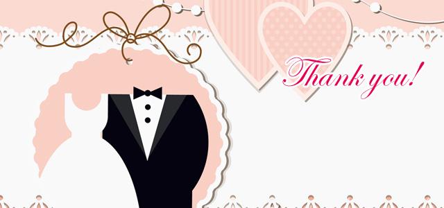 結婚式で人気の無料・激安のサンクスカード・デコシール
